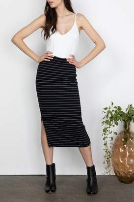 Gentle Fawn Ribbed Midi Skirt