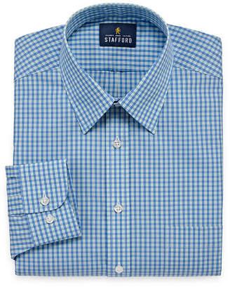 STAFFORD Stafford Travel Performance Super Shirt Big And Tall Long Sleeve Broadcloth Pattern Dress Shirt
