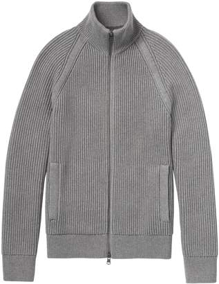 Banana Republic SUPIMA Cotton Ribbed Sweater Jacket