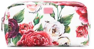 Dolce & Gabbana Floral-printed cosmetic case