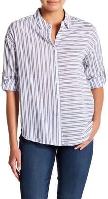 Always & Forever Asymmetrical Stripe Button Down Shirt