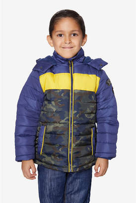 Buffalo David Bitton Boys Tri Color Puffer
