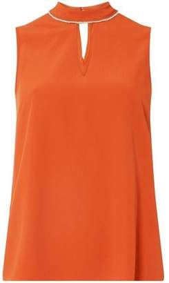 Dorothy Perkins Womens Terracotta Embellished Top