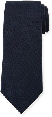 Ermenegildo Zegna Tonal Ovals Silk Tie, Blue