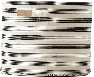 Pehr Designs Stripe Drum Storage - Black/Beige