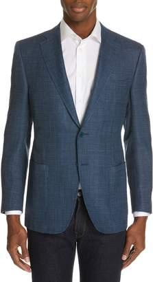 Canali Siena Classic Fit Wool, Silk & Linen Blend Sport Coat