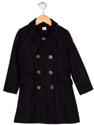 No Added Sugar Boys' Wool Double-Breasted Coat