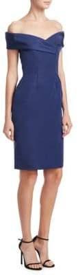 Catherine Regehr Off-The-Shoulder Silk Dress