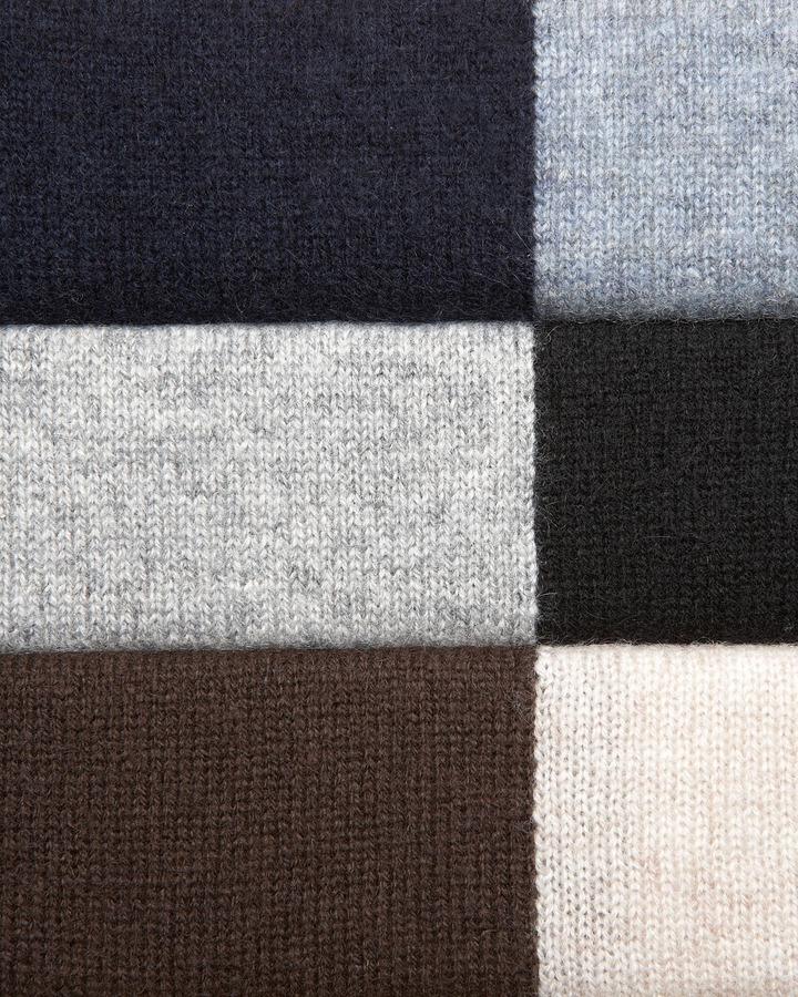 Neiman Marcus Colorblock Crewneck Cashmere Sweater