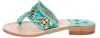 Jack Rogers Leather Slide Sandals