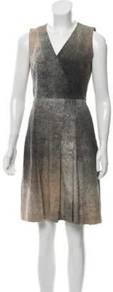 Akris Punto Print A-line Dress Brown Print A-line Dress
