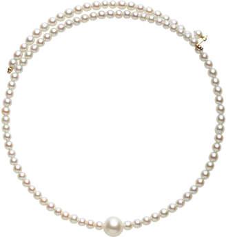 Mizuki Single White Cultured Pearl And Stainless Steel Choker