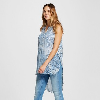 Knox Rose Women's Printed Button Down Tunic Tank $26.99 thestylecure.com