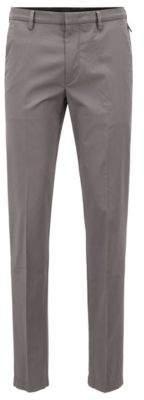 BOSS Hugo Slim-fit chinos in mercerized stretch-cotton twill 32R Open Grey