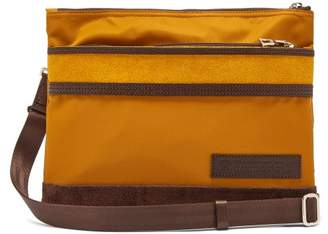 MASTERPIECE Master Piece Density Suede Panelled Cross Body Bag - Mens - Yellow