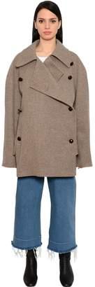 Oversized Double Face Wool Felt Coat