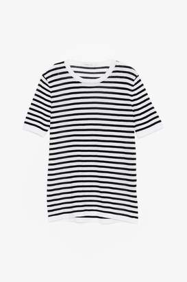 Genuine People Striped Cotton Crew T-Shirt