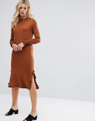 Warehouse Ruffle Hem Sweater Dress $79 thestylecure.com