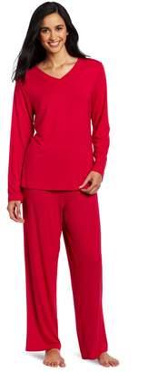 Casual Moments Women's Pajama V-Neck Set