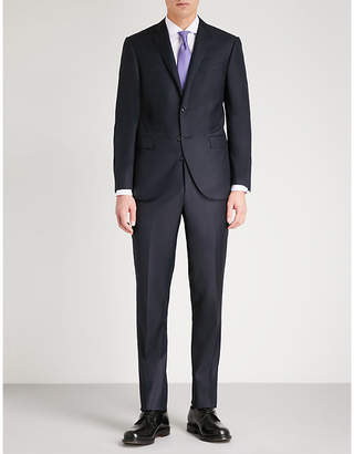 Corneliani Academy-fit sharkskin wool suit
