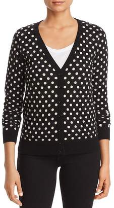 Bloomingdale's C by Polka Dot Cashmere Cardigan - 100% Exclusive