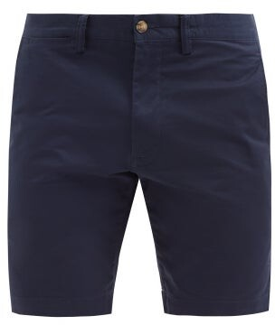 Polo Ralph Lauren Straight Leg Cotton Blend Chino Shorts - Mens - Navy