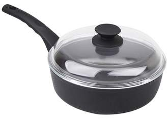 Munster 24cm NOn Stick Deep Fry Pan with Glass Lid