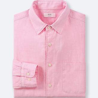 Uniqlo Men's Premium Linen Long-sleeve Shirt