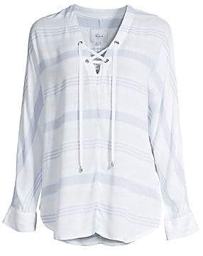 2d28c60c1ce Rails Women's Lily Stripe Lace-Up Blouse