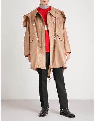 Calvin Klein Oversized shell hooded coat