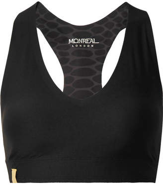 Monreal London Essential V Stretch Sports Bra - Black