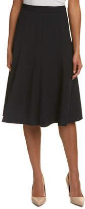 Lafayette 148 New York Boot Wool-Blend A-Line Skirt