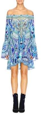 Camilla Chinese Whispers A-line Frill Bell-Sleeve Dress