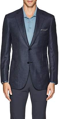Brioni Men's Ravello Neat Cashmere-Silk Two-Button Sportcoat