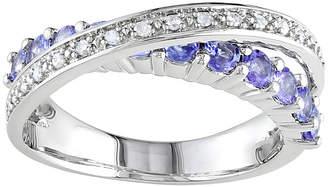 FINE JEWELRY Sterling Silver Tanzanite & Diamond-Accent Ring
