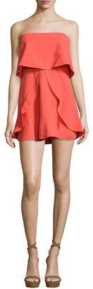 BCBGMAXAZRIA Charlot Strapless Popover Dress, Poinsettia $298 thestylecure.com