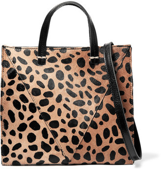 Clare V - Simple Mini Leopard-print Calf Hair And Textured-leather Shoulder Bag - Leopard print $325 thestylecure.com