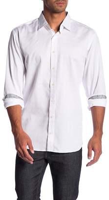 Bugatchi Tonal Checked Slim Fit Shirt (Big & Tall)