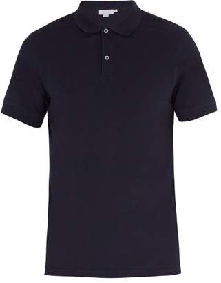 Sunspel - Short Sleeved Cotton Piqué Polo Shirt - Mens - Navy