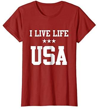 USA Shirt Sporty American Trendy Tops Patriotic Graphic Tees