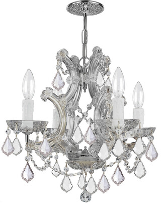 Crystorama Maria Theresa 4-Light Chandelier With Swarovski Crystals