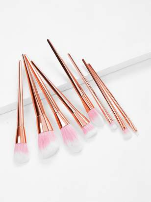 Shein Pink And Gold Professional Cosmetic Makeup Brush Set