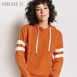 Forever 21 (フォーエバー 21) - Forever 21 バーシティストライプニットパーカー
