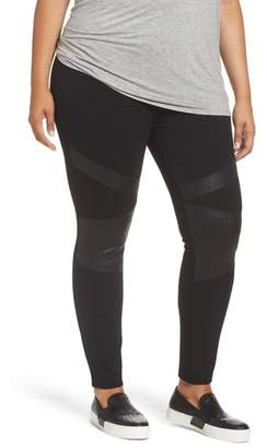 Vince Camuto Lacquer Inset Moto Leggings