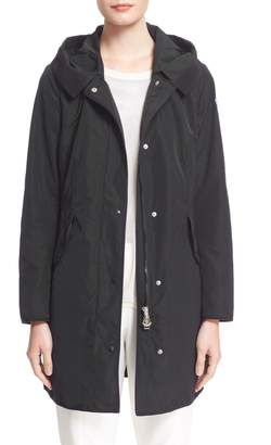 Moncler 'Argeline' Long Hooded Raincoat