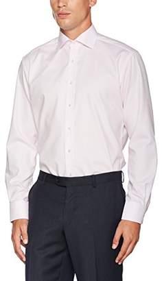 Eterna Men's Modern Fit Langarm Rot Kariert Mit Classic Kent-Kragen Formal Shirt