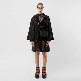 Burberry Cape Detail ECONYL Belted Coat