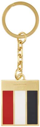 Thom Browne Gold GG Loop Keychain