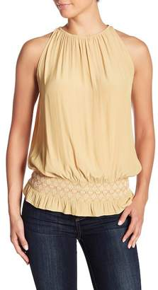 Ramy Brook Lauren Embroidered Crochet Knit Tank Top