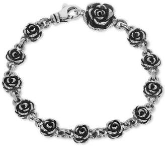 King Baby Studio Women's Rose Link Bracelet in Sterling Silver